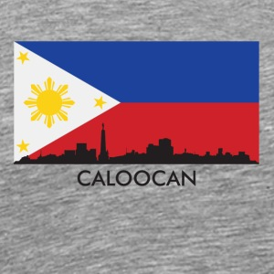 Caloocan Philippines Skyline Filipino Flag - Men's Premium T-Shirt