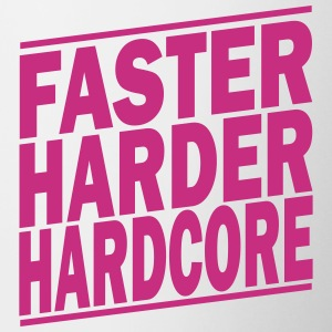 faster harder hardcore ii Mugs & Drinkware - Contrast Coffee Mug