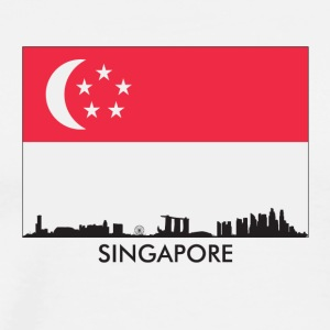 Singapore Skyline Singaporean Flag - Men's Premium T-Shirt