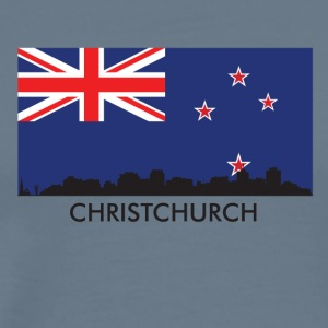 Christchurch Skyline New Zealand Flag - Men's Premium T-Shirt