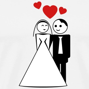 happy wed / newly wed / wedding / stag 3c T-Shirts - Men's Premium T-Shirt