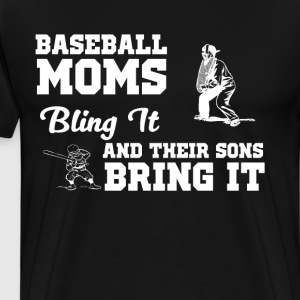 256 BASEBALL MOMS 2-01 T-Shirts - Men's Premium T-Shirt