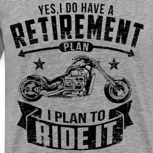 Biker Retirement T-Shirts - Men's Premium T-Shirt