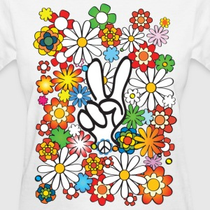 Flower Power Peace - Women's T-Shirt