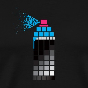 Pixel Paint Blue - Men's Premium T-Shirt