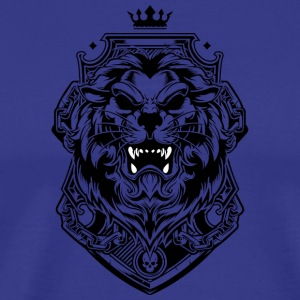 Lion king of beasts tattoo shape king crown - Men's Premium T-Shirt