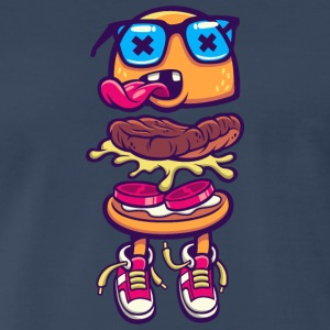 burger monster sneakers language food - Men's Premium T-Shirt