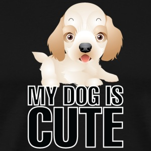 My dog is cute 21 - Men's Premium T-Shirt