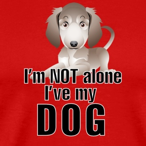 I am not alone i have my dog 2 - Men's Premium T-Shirt