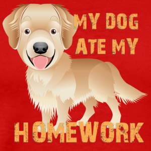 MY DOG ATE MY HOMEWORK - Men's Premium T-Shirt