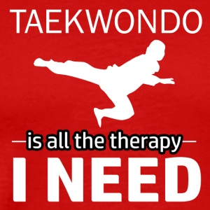 Taekwondo is my therapy - Men's Premium T-Shirt