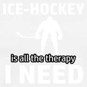 Ice Hockey is my therapy - Men's Premium T-Shirt