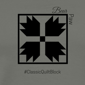 Bear Paw Quilt Block - Men's Premium T-Shirt