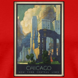 Chicago New York Central lines - Men's Premium T-Shirt