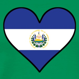 El Salvadorian Flag Heart - Men's Premium T-Shirt
