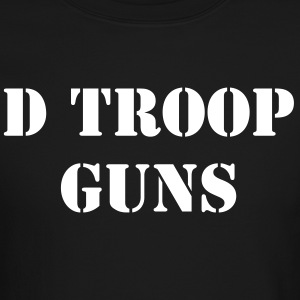 D Troop GUNS with Wings on BACK WHITE Letters - Crewneck Sweatshirt
