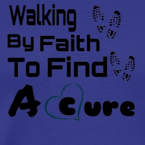 """Walking By Faith"" Lupus Awareness Graphic Tee - Men's Premium T-Shirt"