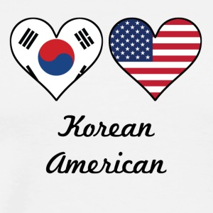 Korean American Flag Hearts - Men's Premium T-Shirt