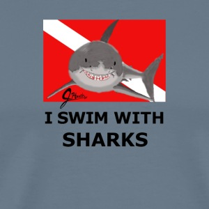 I Swim With Sharks! - Men's Premium T-Shirt