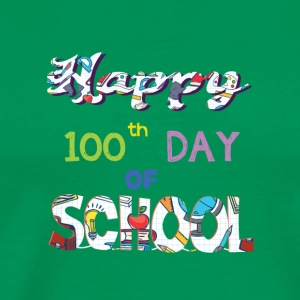 Happy 100th Day Of School Gifts T Shirt - Men's Premium T-Shirt