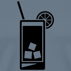 Cocktail, Longdrink or Lemonade glass - Men's Premium T-Shirt