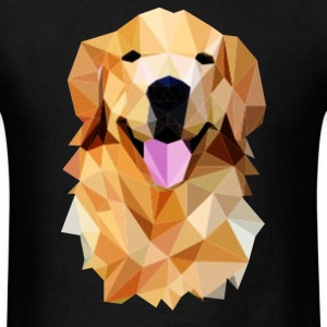 Golden retriever poligonal - Men's T-Shirt