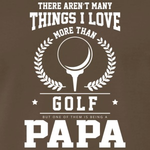 I Love Golf And Being A Papa T Shirt - Men's Premium T-Shirt
