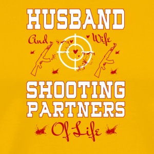 Husband And Wife Shooting Partners T Shirt - Men's Premium T-Shirt