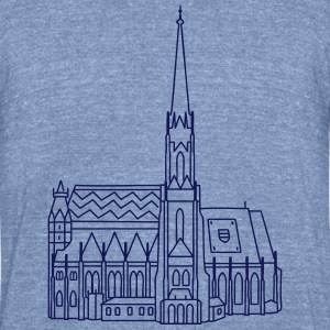 Cathedral Vienna T-Shirts - Unisex Tri-Blend T-Shirt by American Apparel