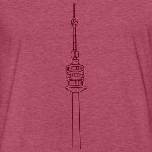 Danube Tower Vienna T-Shirts - Fitted Cotton/Poly T-Shirt by Next Level