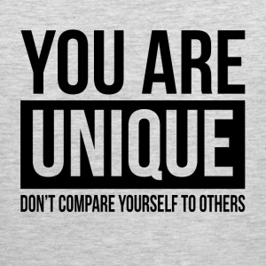 YOU ARE UNIQUE DON'T COMPARE YOURSELF TO OTHERS Sportswear - Men's Premium Tank