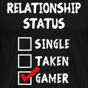 Relationship Status Gamer T-Shirts - Men's Premium T-Shirt