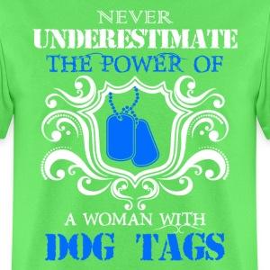 Dog Tags Woman Veteran