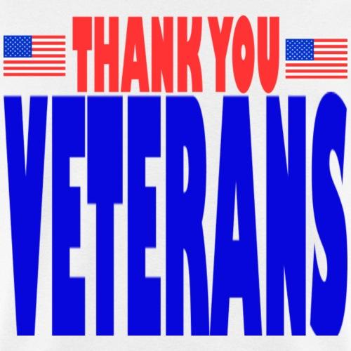 USAts THANK YOU VETERANS us flag bluz