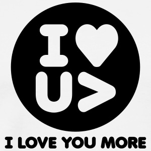 I Love You More Logo - Men's Premium T-Shirt