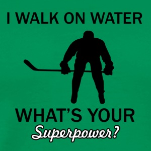 Walk on water Ice Hockey designs - Men's Premium T-Shirt