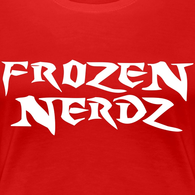 White Frozen Nerdz Logo T-Shirt (Women's)