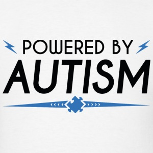 Powered By Autism - Men's T-Shirt