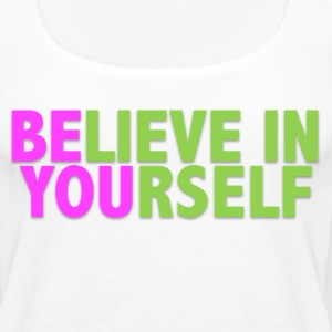Be You - Pink & Green Tanks - Women's Premium Tank Top