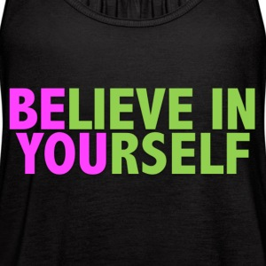 Be You - Pink & Green Tanks - Women's Flowy Tank Top by Bella