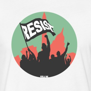 Men's Resist Banner Color - Fitted Cotton/Poly T-Shirt by Next Level