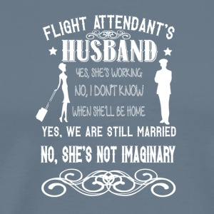 My Flight Attendant Wife's Not Imaginary T Shirt - Men's Premium T-Shirt