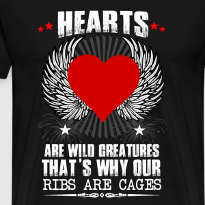 Hearts Ribs Are Cages T-Shirts - Men's Premium T-Shirt