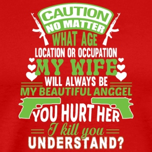 My Wife Will Always Be Beautiful Angel T Shirt - Men's Premium T-Shirt