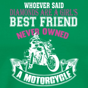Motorcycles Are A Girls Best Friend T Shirt - Men's Premium T-Shirt