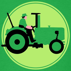 farmer_with_tractor_b_09_2016_3c03 T-Shirts - Men's T-Shirt