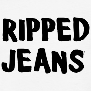 Ripped Jeans T-Shirts - Fitted Cotton/Poly T-Shirt by Next Level