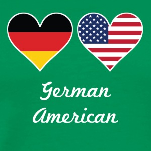 German American Flag Hearts - Men's Premium T-Shirt