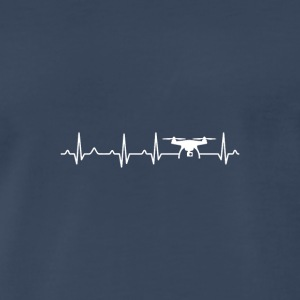 Drone Heartbeat x Frequency - Men's Premium T-Shirt