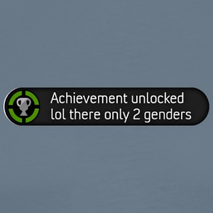 Xbox achievement - lol there are only 2 genders - Men's Premium T-Shirt